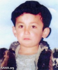 Fraidon, 7-year-old child who was abducted and then killed by warlords in Fakhar province