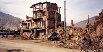 destruction of Kabul in early 90's by fundamentalists