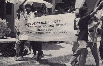 Demonstration of Indonesian students