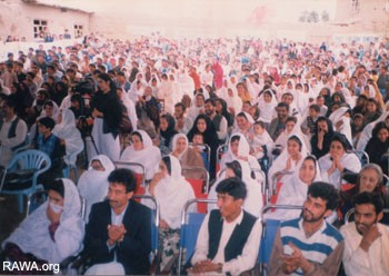 A large number of women made up the audience of the function