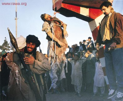 Inhuman execution of a criminal (Dr. Najibullah)