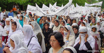 Hundreds of women attended the demonstration on April 27 2004