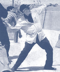 Edward Said pelting stone on Israel army