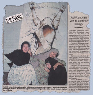 Reflection of RAWA event on March 10, 2004